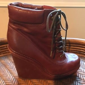 Marc by Marc Jacobs Cognac Wedge Boot